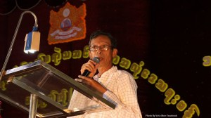 Dr. Min Kyi Win delivering a speech (Photo: MNA)