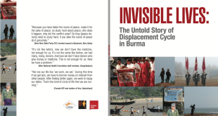 Cover pages of the report on IDPs (Photo: Burma Link/HURFOM)