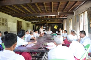 AMDP members holding Chaungzone Township Executive meeting