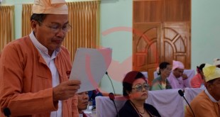 Dr. Aye San presenting MCL report at Hluttaw (Photo: MNA)