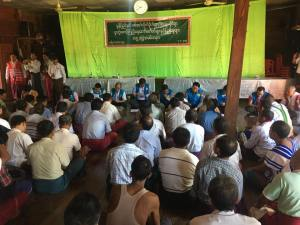 JMC-S public meeting (Photo: Aung Naing Win)