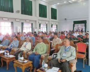 Peace Commission Advisor U Hla Maung Shwe (sitting from the left) (Photo: Khin Zaw Oo/Facebook)