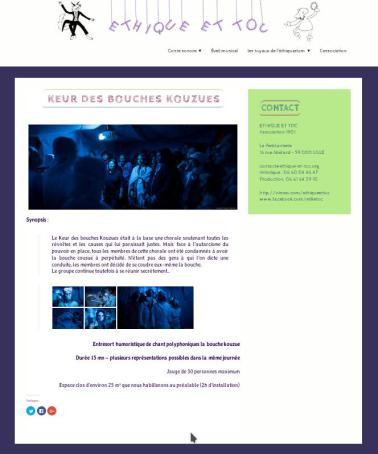 Capture du site