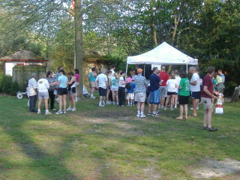 Here's just some of the walkers and runners getting ready for the Ben Layton Memorial 5K.