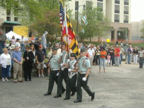 The color guard was a nice touch. I believe that it was from Wicomico High School, but I may be incorrect.