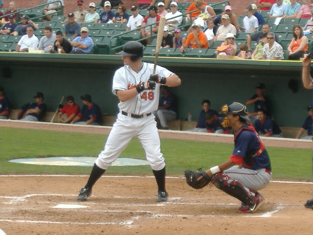 Joe Mahoney takes his turn at the plate Tuesday night against Greenville.