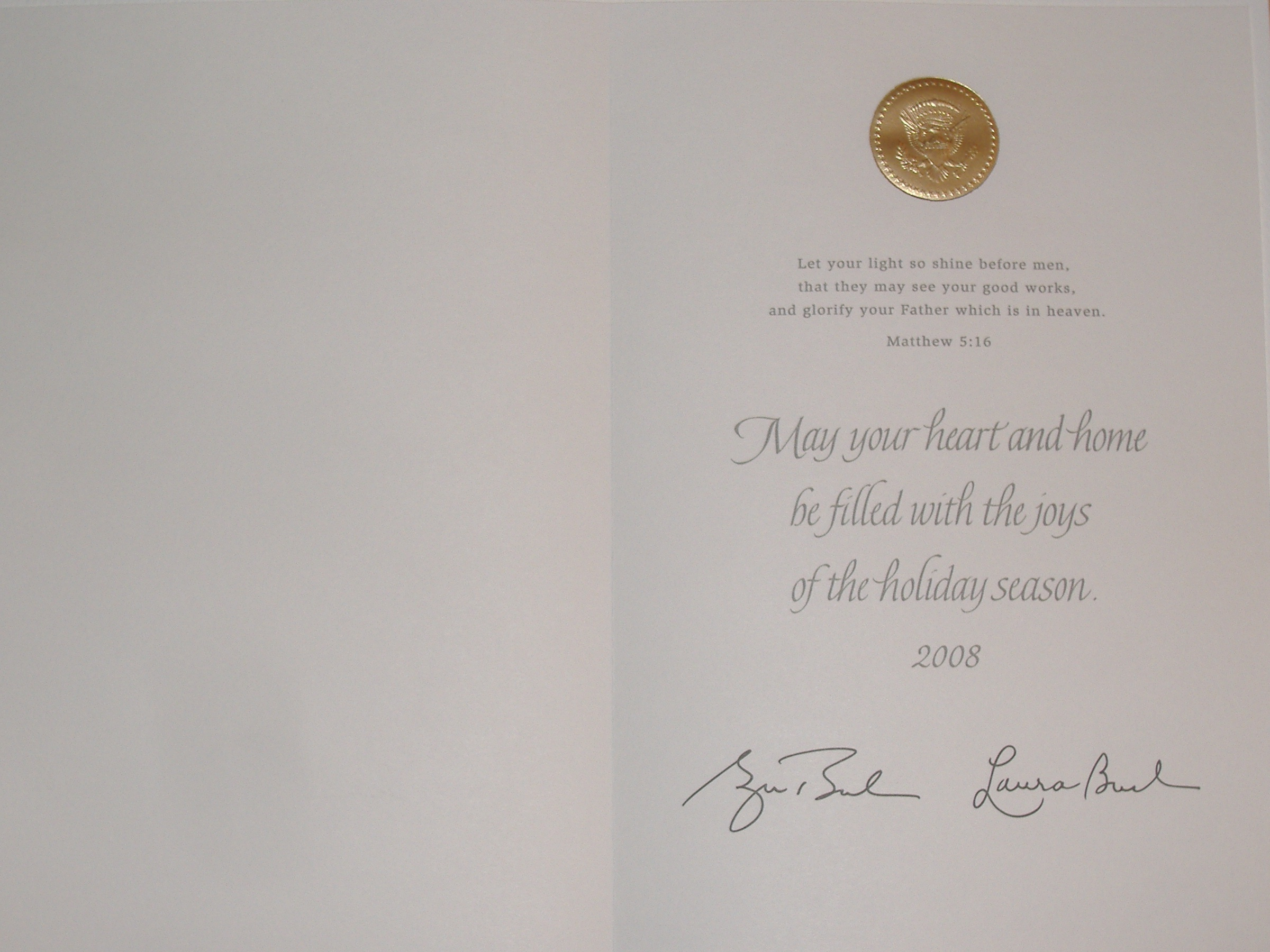2008 White House Christmas Card : monoblogue