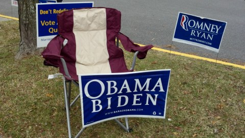 Obama's empty chair in full force.