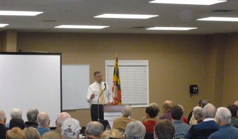 Andy Harris speaks at the Worcester County TEA Party.