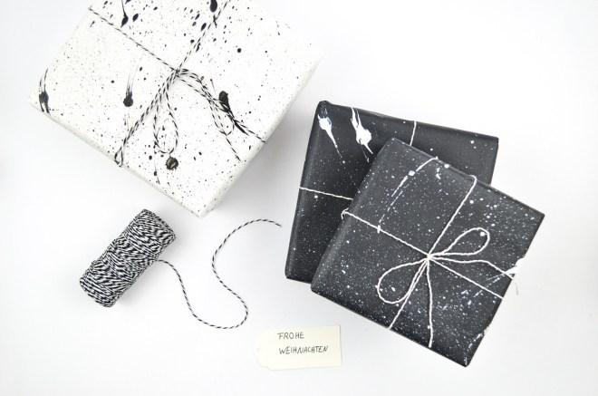 DIY Weihnachtliche Geschenkverpackung für Design-Liebhaber