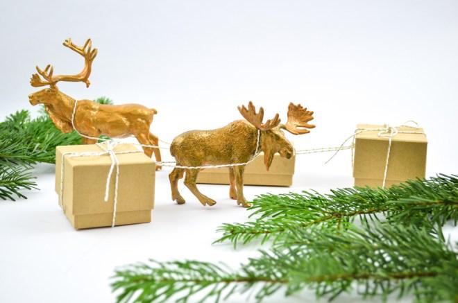 DIY Weihnachtliche Geschenkverpackung für Kinder
