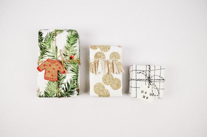 Geschenke weihnachtlich verpacken mit juniqe
