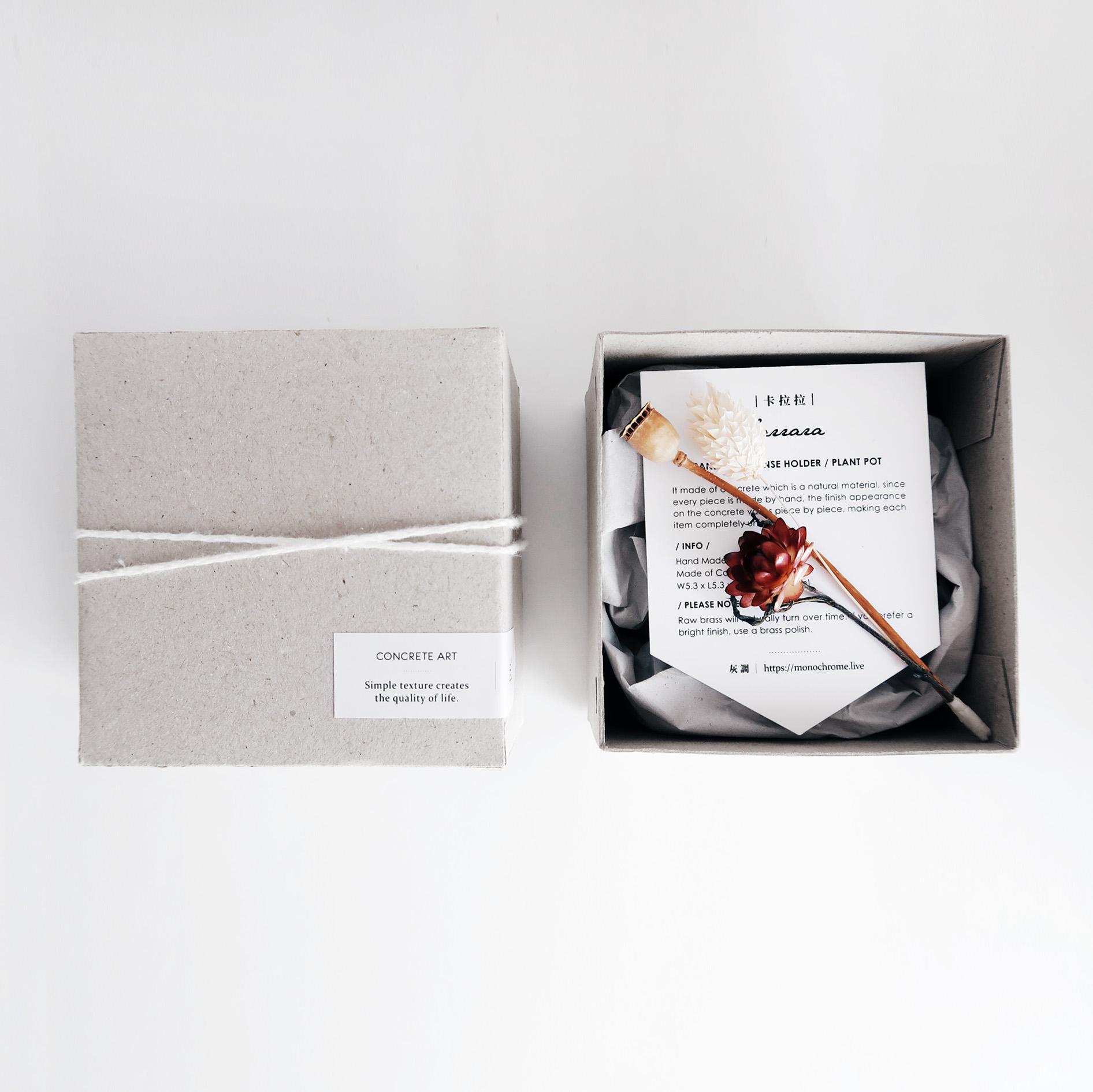 灰調手工紙盒包裝・禮物包裝