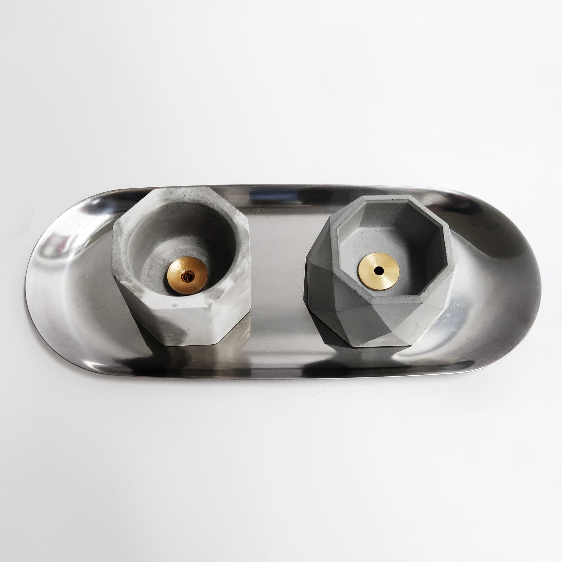 BLOOMING 多用途水泥銅座盆器・線香燭台・收納盤