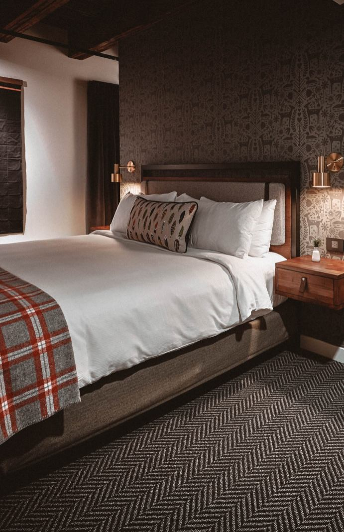 Rooms at Hewing Hotel, Monochrome Minimalist, Minneapolis Boutique Hotels