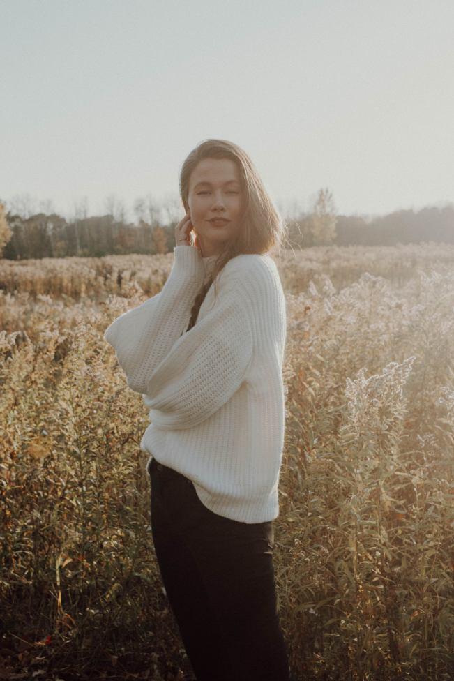 Cozy sweater under $30, monochrome minimalist, warm fall fashion, autumn favourites
