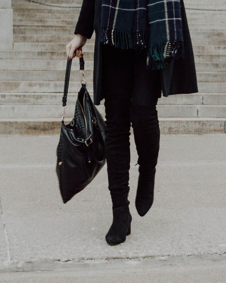 Christmas List, How to Style OTK boots, Monochrome Minimalist