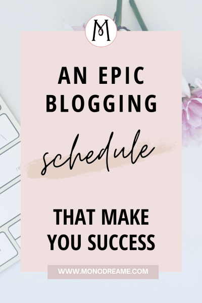 epic blogging schedule