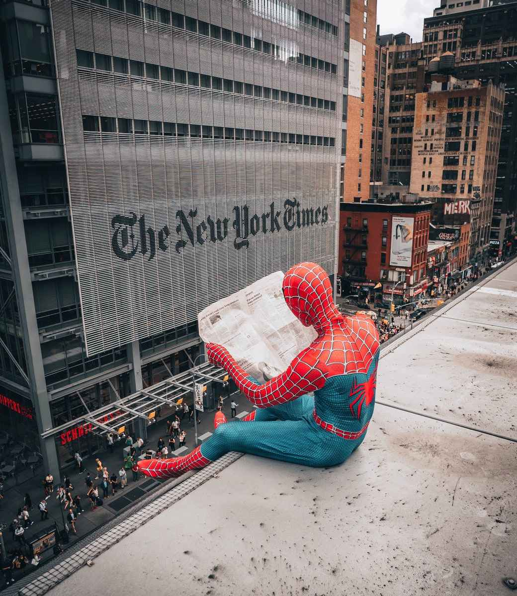 person in spiderman costume
