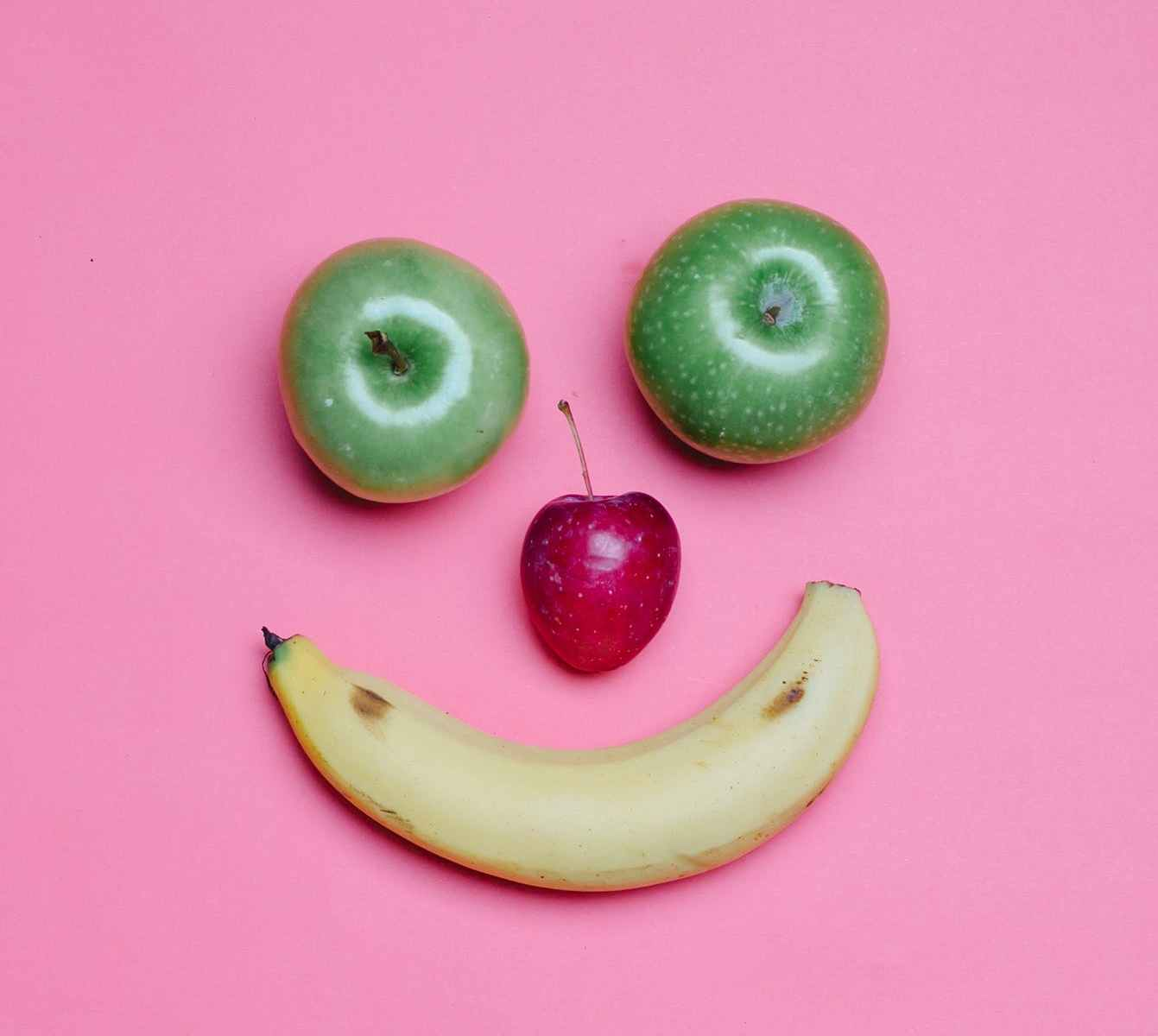 smile made of ripe fruits