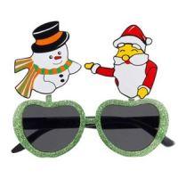 フレームにサンタさんとスノーマンのイラストが付属したユニークなサングラス