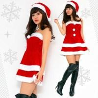 【クリスマスコスプレ】Peach×Peach レディース エレガントサンタ ワンピース