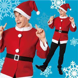 【クリスマスコスプレ 衣装】シンプルサンタジャケット