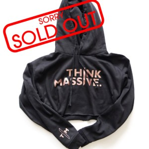 MONOLITH APPAREL ROSE GOLD THINK MASSIVE CROP HOODIE SOLD OUT