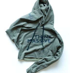 Think Massive Cropped Hoodie Green 2
