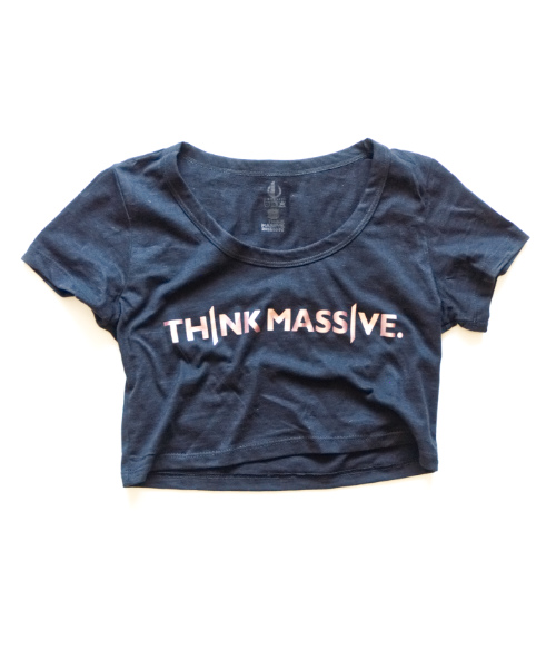 b64fd4056e33 Think Massive Crop Top Ladies T-Shirt - Monolith Apparel