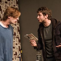 "David Shoemaker as ""Phillip"" and Eric Park as ""Treat"" in ""Orphans."" Photo Courtesy of Ken Stanek"