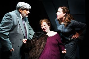 Judge Omar Gaffney (Marc Rehr), Veta Louise (Joan Crooks), and Myrtle May (Karina Ferry)