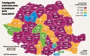 harta salarii romania 2017