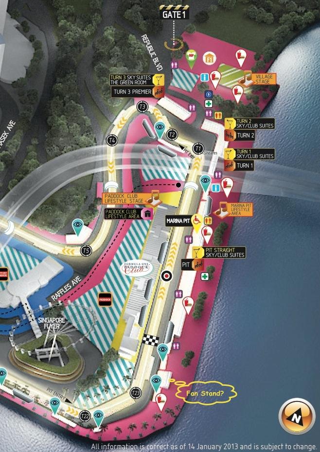 Circuit Map 2013 Zone 1