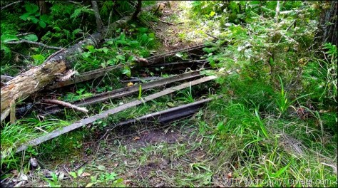 Tracks Left Behind From the Mine