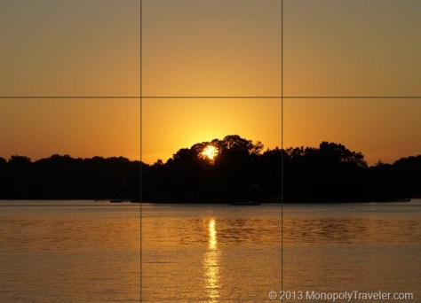 Setting Sun Centered