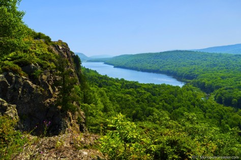Looking over the Porcupine Mountains
