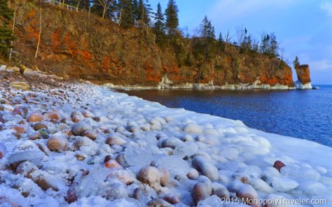 Ice Covered Beach on the North Shore