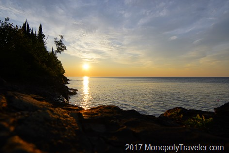 Sunrise over Lake Superior on the North Shore of Minnesota