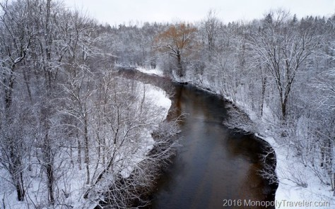 A fresh snowfall brings out the winter wonderland along the Brule River
