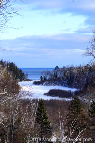 The northern most shore of Lake Superior