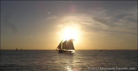 A Schooner at Sunset