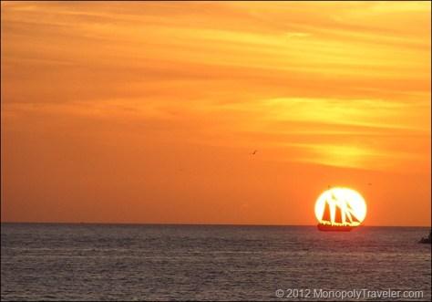 The Schooner Passing Through the Sun