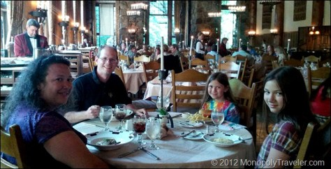 Enjoying Dinner at the Ahwahnee