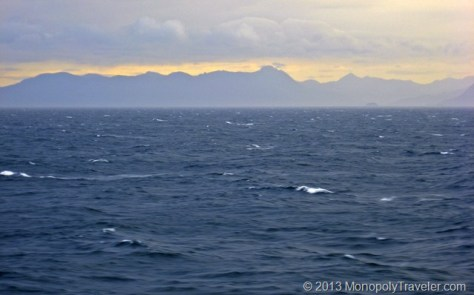 Rougher Waters with Mountains in the Background