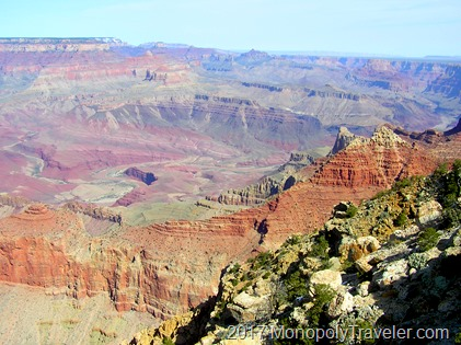 Looking out at the Grand Canyon from the South Rim