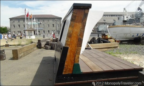 """The Construction of """"Old Ironsides"""" Showing it is All Made Out of Wood"""