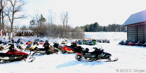 Some of the Many Snowmobiles