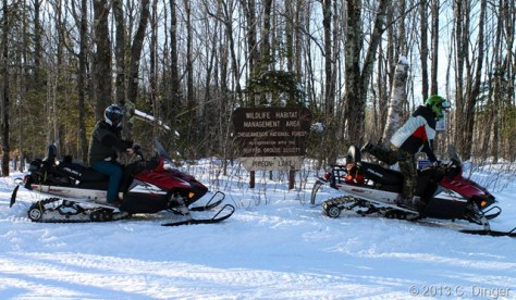 Snowmobiling in the Chequamegon National Forest