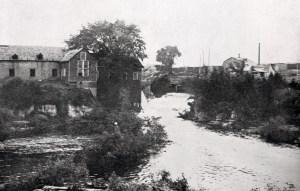 Brasserie et moulin Leamy vers 1870.